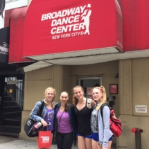 Armstrong dancers train at Broadway Dance Center, New York City
